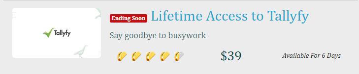 Lifetime access to tallyfy